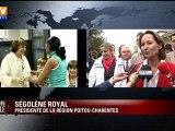 "Danielle Mitterrand : ""grande dame""pour Royal"