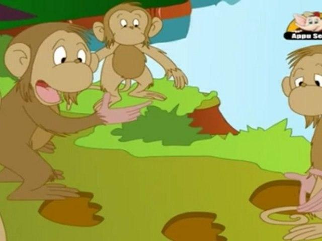 Monkey Chief and the Demon in Marathi - Jataka Tales