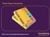 Becoming Self Employed, Small Business Marketing and Yellow pages advertising