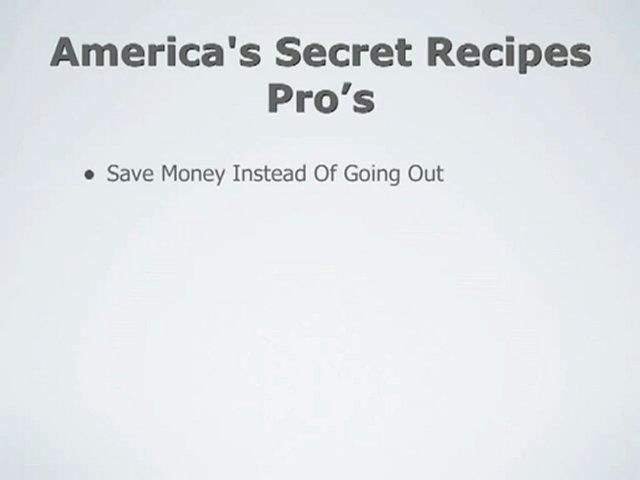 America's Secret Recipes Review