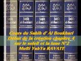 50. Cours du Sahih d' Al Boukhari Début de la création chapitre 4 sur le soleil et la lune 2/3