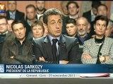 Elysée 2012 : Nicolas Sarkozy force le trait pour critiquer François Hollande