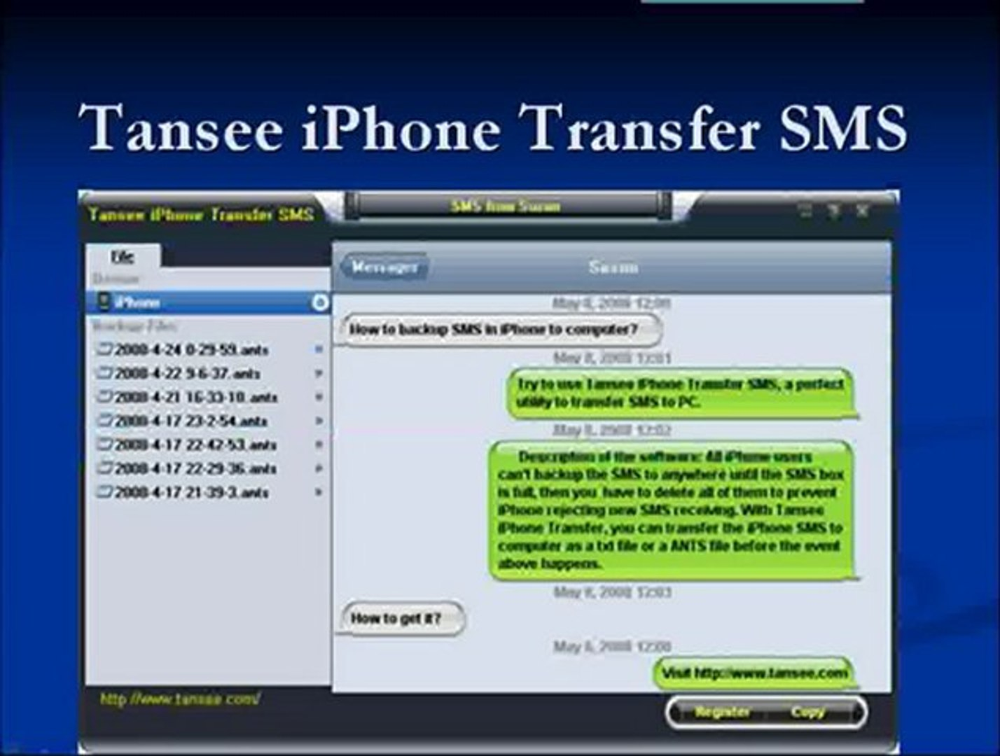TRANSFER TÉLÉCHARGER TANSEE CONTACTS IPHONE