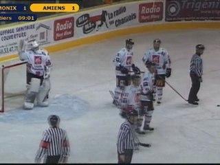 Chamonix contre Amiens 3ème tiers