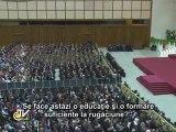 """Papa: """"Creştinii, martori ai rugăciunii pentru a deschide lumea spre Dumnezeu"""""""