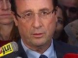 """Hollande : """"depuis plusieurs mois c'est Mme Merkel qui décide et M. Sarkozy qui suit"""""""