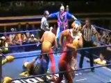 Mil Mascaras, Dos Caras & Canek vs Los Psycho Circus. pt2.