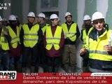 LOSC : Les Dogues sur le chantier du Grand Stade (Lille)