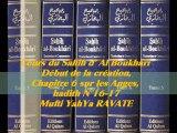 75. Cours du Sahih d' Al Boukhari Début de la création chapitre 6 sur les Anges, hadith N°16-17