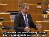 Nigel Farage - La Croatie dans l'Union Européenne