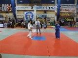 JUDO PIŁA   Dominik Skowyra  vs .Sz.Kondracki Ippon Kożuchów zawody judo Luboń 2011 półfinał U13 33kg,karate Piła,aikido Piła,mma Piła