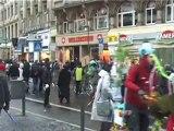 Occupy Frankfurt Demo zur EZB am 3.12.2011 - Besetzt Frankfurt - EZB - Wir bewegen die Welt EZB Präsident Mario Draghi