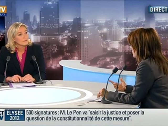 Marine Le Pen BFMTV2012-RMC-LePoint