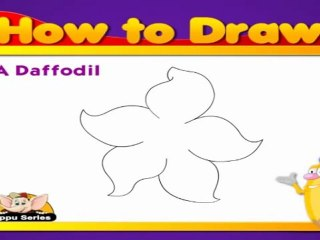 Learn to Draw Flower in Hindi - Daffodil