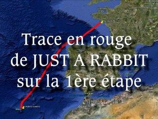 Trace de Just a Rabbit pendant la Transquadra