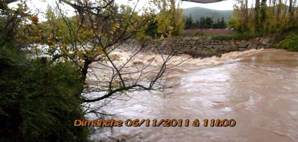 Le fleuve Gapeau en colère ..... puis quelques jours après