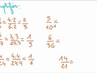 comment simplifier des fractions ?