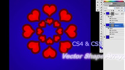 Creating Vector Shape Arrays with Step and Repeat in Photoshop CS5