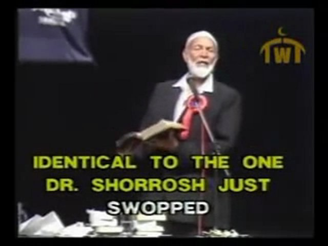 Dr. Anis Shorrosh gets owned in the same Bible passage by Sheikh Ahmed Deedat and Shabir Ally  !!