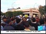 LIBYE Manifestation à BENGHAZI contre le CNT des SARKOZY BHL OBAMA