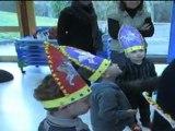 Passage de St Nicolas, dans les écoles de Baccarat, le 06 décembre 2011