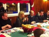 Marine le Pen visite le port de Boulogne-sur-Mer (Pas-de-Calais)