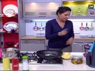 Choumicha - Recette facile : macaroni au fromage Poulet et Champignon