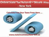 Online State Tax Returns -- Secure Way - New york