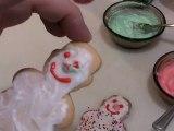 Decorating Christmas Sugar Cookies _ Decorating Snowman Christmas Cookies