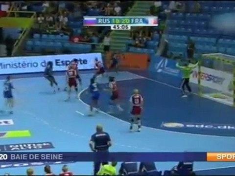 Handball match Russie France