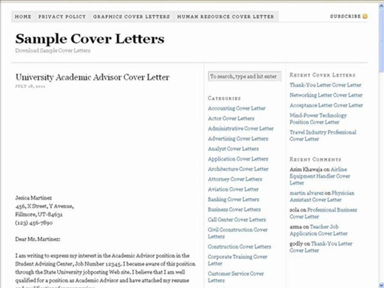 Sample Cover Letter For Academic Advisor from s2.dmcdn.net