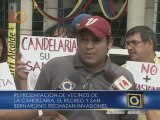 Vecinos de La Candelaria y San Bernardino protestaron por invasiones e inseguridad