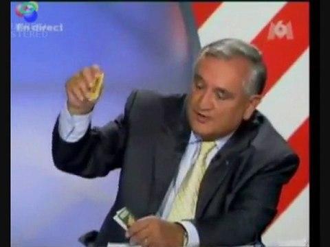 Raffarin sur M6 parle de la vente des feuilles longues