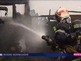 incendie du Wood Café près d'Avranches