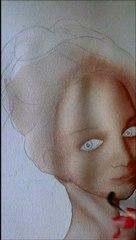 Modeler un visage en aquarelle