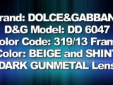 AUTHENTIC DOLCE&GABBANA D&G SUNGLASSES DD 6047 BEIGE