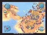 Worms 4: Mayhem (PS2) - Mode Destruction dans lequel il faut utiliser de drôles d'armes
