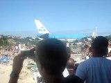 décollage KLM saint martin SXM avion
