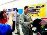 Accueil triomphal pour les soldats américains de retour d'Irak