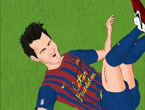 Barcelone - Santos rejoué par OLIVE ET TOM !