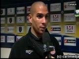 ■  Sochaux - Ajaccio : » Réaction de Carl après la rencontre dans Jour de Foot du 21/12/2011