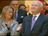 Moratinos no puede evitar las lágrimas en su despedida