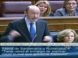 """Sáenz de Santamaría a Rubalcaba: """"Tiene usted el encargo de explicar mejor lo mal que gobierna ZP"""""""