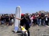Perros haciendo surf en San Diego