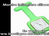 Boutique montre infirmiere avec la célèbre montre infirmiere silicone carrée