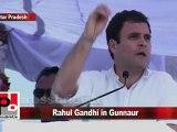 Congress Leader Rahul Gandhi in Gunnaur (U.P) Part 2
