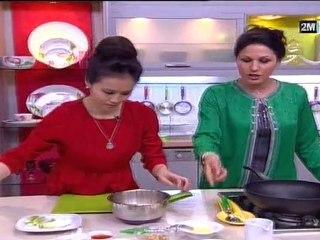 Choumicha Recette - Poulet au cacahuètes et Omelettes à la vapeur