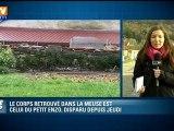 Haute-Marne : le corps retrouvé est bien celui du petit Enzo