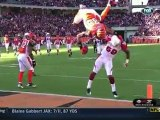 Jerome Simpson Front Flips Over A Defender Into The Endzone