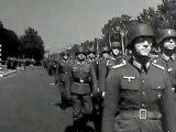Défilés de soldats allemands de la seconde guerre mondiale entrecoupé par des discours d'Hitler (muet)